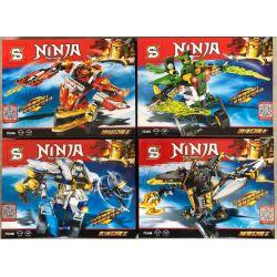 Sheng Yuan 7034 SY7034 Ninjago Movie Ninja:ninja Master Xếp hình Bộ 4 Người Máy Nhỏ Của Ninja 763 khối