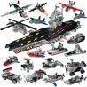 Panlosbrick 633003 (NOT Lego Military Army Aircraft Carrier ) Xếp hình 8 Phương Tiện Nhỏ Kết Hợp Thành Tàu Sân Bay gồm 8 hộp nhỏ 725 khối