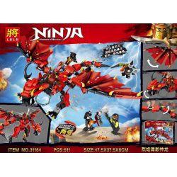 Lele 31164 Ninjago Movie Xếp hình Rồng Đỏ 611 khối