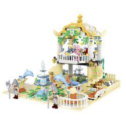 Winner 5012 Disney Princess Mermaid Xếp hình Vườn Thượng Uyển 700 khối