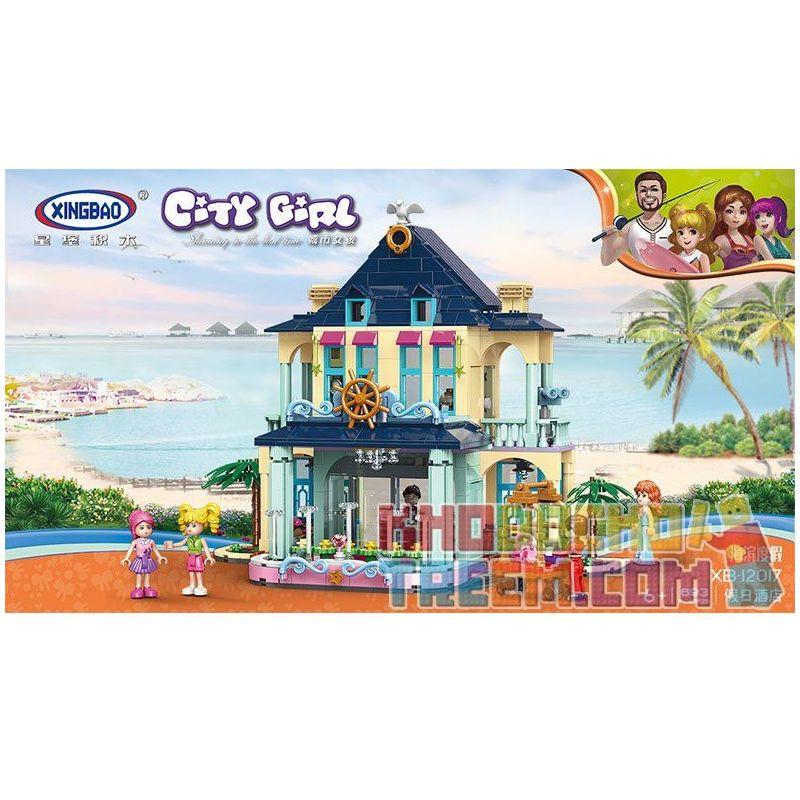 Xingbao XB-12017 (NOT Lego Friends Holiday Mansion On The Beach ) Xếp hình Biệt Thự Bên Bờ Biển Của Các Cô Gái 693 khối