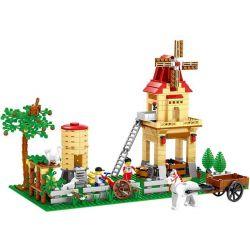 Wange 34203N City Happy Farmland Xếp hình Nông Trại Cối Xay Gió 569 khối