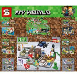 Sheng Yuan 1069 (NOT Lego My World ) Xếp hình 4 Bộ Xếp Hình Nhỏ gồm 4 hộp nhỏ 670 khối