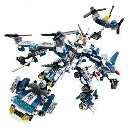 Sembo SD9188 SD9189 SD9190 SD9191 SD9192 SD9193 SD9194 SD9195 Transformers Future Police Xếp hình 8 Thiết Bị Kết Hợp Thành Robot Khổng Lồ 663 khối