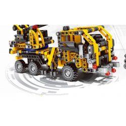 Qizhile 23002 Technic Crane Truck Xếp hình Xe Cần Cẩu 465 khối