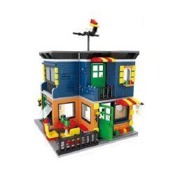 Hsanhe 6704 (NOT Lego Modular Buildings Tea Restaurant ) Xếp hình Cửa Hàng Trà 472 khối