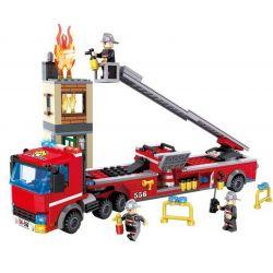 Hsanhe 6556 Fire Truck Fire Truck Xếp hình Xe Cứu Hỏa Đang Chữa Cháy 396 khối