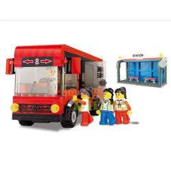 Wange 30132 City Red City Bus Xếp hình Xe Bus Thành Phố Màu Đỏ 318 khối