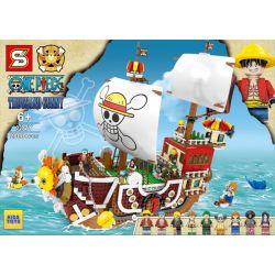 Sheng Yuan 3D2Y Movie Thousand Sunny One Piece Xếp hình Thuyền Đảo Hải Tặc 2000 khối