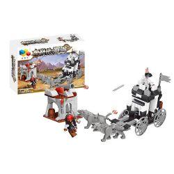 Qizhile 70009 (NOT Lego Pirates of the Caribbean Attacking The Treasure Chariot ) Xếp hình Tấn Công Xe Chở Kho Báu Của Lão Cướp Biển 270 khối