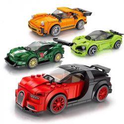 Sembo 607013 607014 607015 607016 (NOT Lego Speed Champions Speed Champions:mclaren 720S ) Xếp hình 4 Xe Hơi Nổi Tiếng gồm 4 hộp nhỏ 737 khối