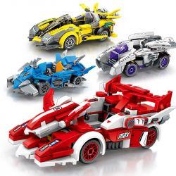 Sheng Yuan Sembo 607001 607002 607003 607004 Speed Champions Xếp hình 4 Mẫu Xe Đua Độ 729 khối
