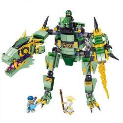 Lele 31158 (NOT Lego Ninjago Movie Green Ninja Mech Dragon ) Xếp hình Người Máy Rồng Xanh 568 khối