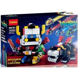 Decool 18002 Bela 11026 Jemlou 20038 BrickHeadz Mini Voltron Xếp hình Dũng Sỹ Hesman Nhỏ 455 khối