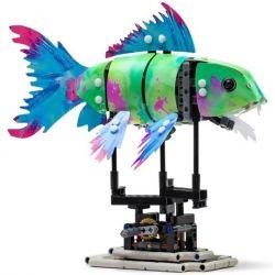 Lepin 20089 Sheng Yuan 7006B Forma 81002 Splash Koi Skin Xếp hình Cá Koi Nhấp Nháy Màu Động Cơ Pin 342 khối