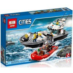 Lepin 02049 Lele 39056 (NOT Lego City 60129 Police Patrol Boat ) Xếp hình Cảnh Sát Tuần Tra Bờ Biển 200 khối