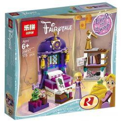 Bela 11056 Lepin 25017 Disney Princess 41156 Rapunzel's Castle Bedroom Xếp hình Phòng Ngủ Của Công Chúa Tóc Mây 156 khối