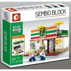 Sembo 601017 City Sembo Block Xếp hình Cửa Hàng Tiện Lợi 7-11 320 khối