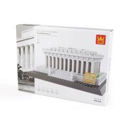 Wange 4216 (NOT Lego Architecture Lincoln Memorial ) Xếp hình Đài Tưởng Niệm Lincoln 979 khối