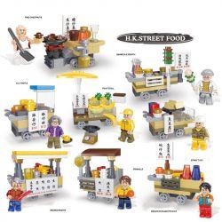 Xipco XP93210A (NOT Lego Lunar New Year Hongkong Street Food ) Xếp hình Món Ăn Đường Phố Hongkong Ngày Tết Tấp Nập 814 khối