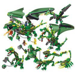 Lele 31157 Ninjago Movie Phantom Ninja Energy Dragon 8 In 1 Xếp hình Trận Chiến Của Rồng Xanh Với Tên Ác Ma 8 Trong 1 660 khối