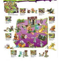 Sheng Yuan 1210 (NOT Lego Plants vs. Zombies Plants Vs. Zombies ) Xếp hình Những Vũ Khí Hủy Diệt Zombies Chúa 8 Trong 1 gồm 8 hộp nhỏ 787 khối