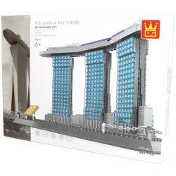 Wange 4217 Architecture Marina Bay Sanks Xếp hình Khách Sạn Marina Bay Sanks 881 khối