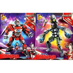 Panlosbrick 690003 Super Heroes Ultraman Xếp hình Cuộc Chiến Của Siêu Nhân Ultraman Với Quái Vật Baltran 791 khối