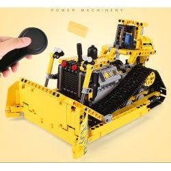 Mouldking 13015 Technic 42028 Bulldozer Xếp hình Xe Ủi Bánh Xích Có Điều Khiển Từ Xa 617 khối