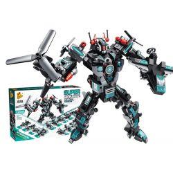 Panlosbrick 633013 Transformers Super Poineer Robot Xếp hình Robot Biến Hình 12 Phương Tiện Quân Sự 577 khối