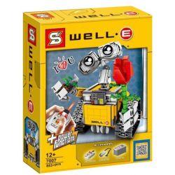 Lepin 16003 Lele 39023 Yile 407 Sheng Yuan 7007 Ideas 21303 Wall-E Xếp hình Rô Bốt Wall-E Có Điều Khiển Từ Xa 687 khối