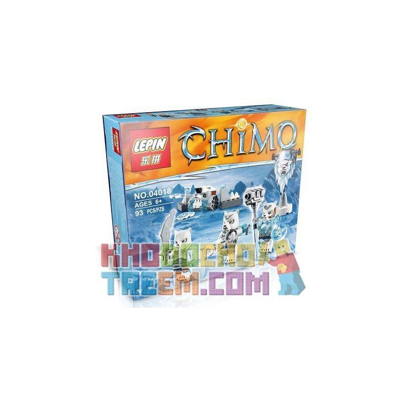 Lepin 04018 Lele 78088B Elephan JX70001B Chima 70230 Bear Tribe Pack Xếp hình Bộ Lạc Gấu Băng 75 khối