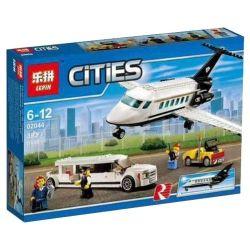 Lepin 02044 (NOT Lego City 60102 Airport Vip Service ) Xếp hình Máy Bay Chở Khách Hạng Sang 393 khối