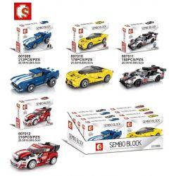 Sembo 607009 607010 607011 607012 Classic Ford Fiesta M-Sport Wrc Xếp hình Các Siêu Xe Đua gồm 7 hộp nhỏ lắp được 4 mẫu 786 khối