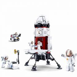 Sluban M38-B0738 (NOT Lego City Base Rocket ) Xếp hình Tàu Thám Hiểm Vũ Trụ 733 khối