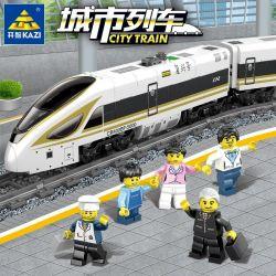 Kazi Gao Bo Le Gbl Bozhi KY98228 KY98229 (NOT Lego City Fuxing High Speed Train ) Xếp hình Tàu Cao Tốc Động Cơ Pin Có Ray gồm 2 hộp nhỏ 647 khối