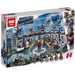 Lepin 07121 Sheng Yuan 1332 SY1332 Bela 11260 (NOT Lego Marvel Super Heroes 76125 Iron Man Hall Of Armour ) Xếp hình Phòng Chứa Giáp Của Người Sắt 587 khối