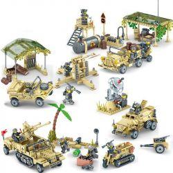 Kazi Gao Bo Le Gbl Bozhi 82033 82034 82035 82036 (NOT Lego Military Army Eaglecorps ) Xếp hình Đại Chiến Trên Sa Mạc gồm 4 hộp nhỏ 1764 khối