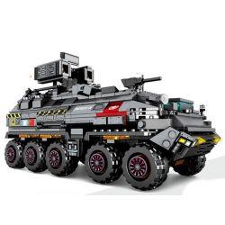 Sembo 107005 (NOT Lego The Wandering Earth Military Truck ) Xếp hình Xe Thiết Giáp Chở Quân 811 khối