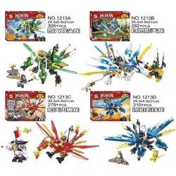 Sheng Yuan 1213 SY1213 (NOT Lego Ninjago Movie Dragons ) Xếp hình Rồng Của Các Ninja gồm 4 hộp nhỏ 1176 khối