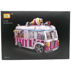 Loz 1112 Car Ice Cream Car Model Xếp hình Mô Hình Xe Kem 1244 khối