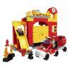 Lego Duplo 6168 Hystoys HG-1267 Fire Station Xếp hình trụ sở cứu hỏa với xe bán tải cứu hỏa 69 khối