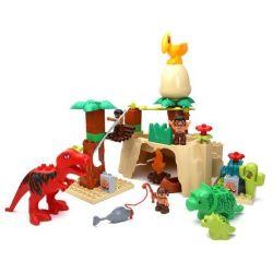 Lego Duplo 5598 Hystoys HG-1269 Dino Valley Xếp hình thung lũng khủng long 42 khối