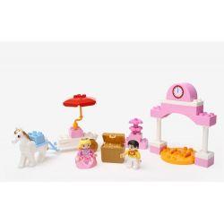 Hystoys Hongyuansheng Aoleduotoys HG-1270 (NOT Lego Duplo 6153 Cinderella's Carriage ) Xếp hình Hoàng Tử Đón Công Chúa 25 khối