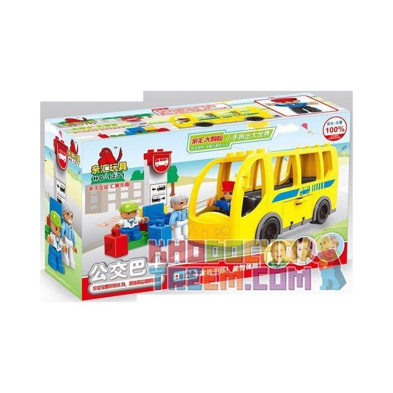 Lego Duplo 5636 Hystoys HG-1271 Bus Xếp hình bến xe buýt 16 khối