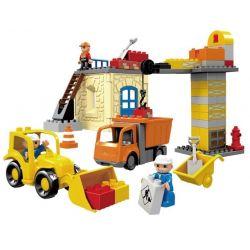 Hystoys HG-1274 Duplo 4988 Construction Site Xếp hình công trường xây dựng 72 khối