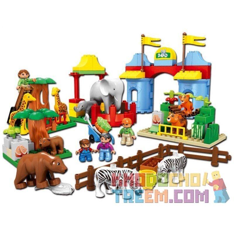 Lego Duplo 5635 Hystoys HG-1275 Aoleduotoys GM-5013A Zoo Xếp hình sở thú 92 khối