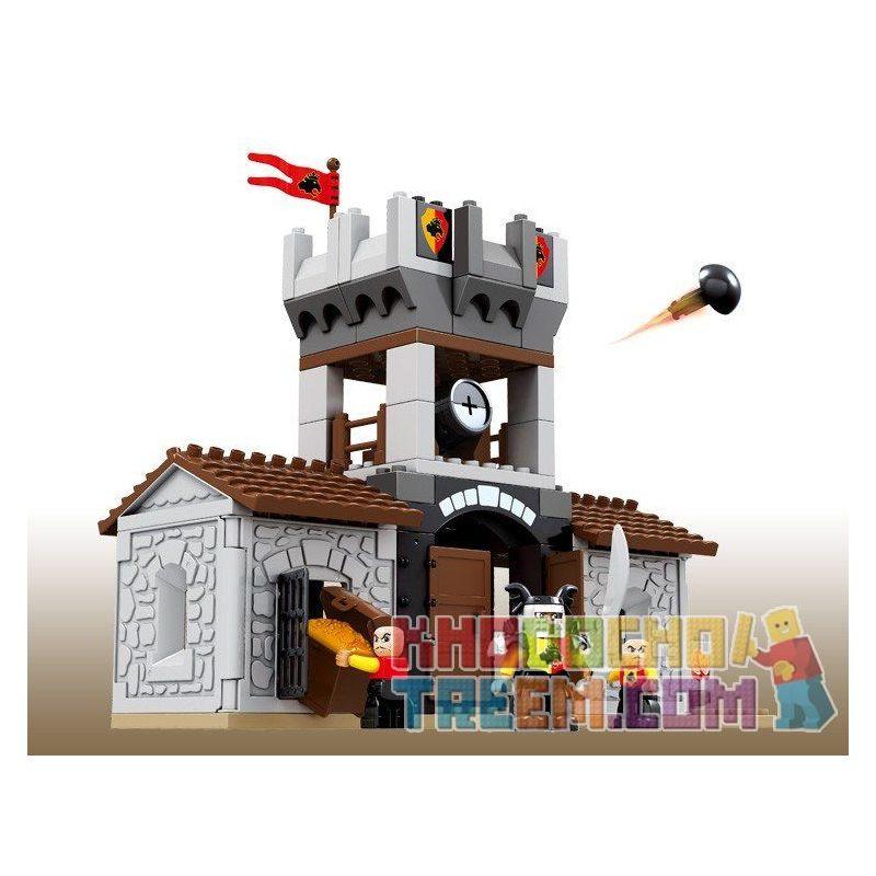 Lego Duplo Hystoys HG-1313 Lego Duplo Castle 76 Xếp hình Nhà kho của nhà vua 76 khối