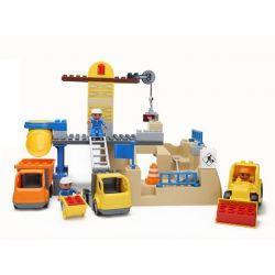 Lego Duplo 10518 Hystoys HG-1334 Aoleduotoys GM-5002 My First Construction Site Xếp hình công trường xây dựng lớn 59 khối