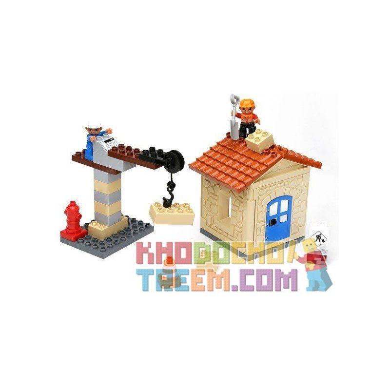 Hystoys Hongyuansheng Aoleduotoys HG-1333 (NOT Lego Duplo My First Construction Site ) Xếp hình Công Trường Xây Dựng Nhỏ 36 khối